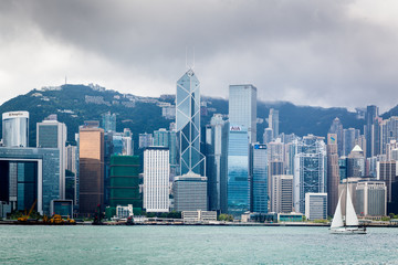 Hong Kong Skyline in the afternoon.