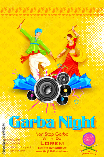quotgarba night posterquot stock image and royaltyfree vector