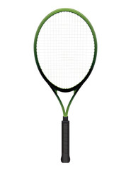Tennis Racquet Illustration Isolated on White