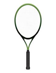 Tennis Racquet Illustration Isolated on White