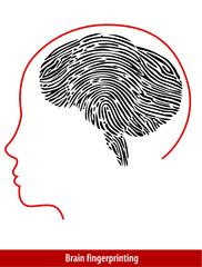 Vector of  Brain Fingerprint