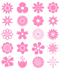 Set of Vector Flowers.