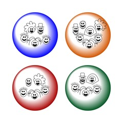 Happy family buttons