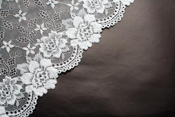 lace on black