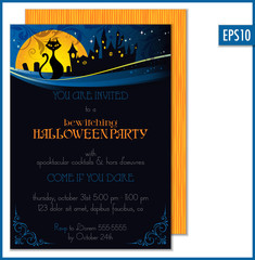 Vector Halloween Party Invitation