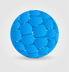 Blue ball elegant icon