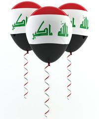 Iraq flag balloon