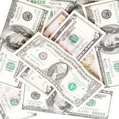 Money isolated on white background.
