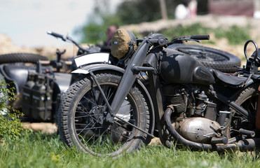 Old german military motorcircle