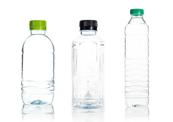 Plastic water bottle isolate