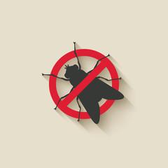 fly warning sign