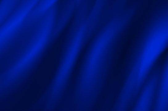 Background from blue wavy fabric