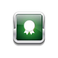 Medal Rounded Rectangular Vector Green Web Icon Button