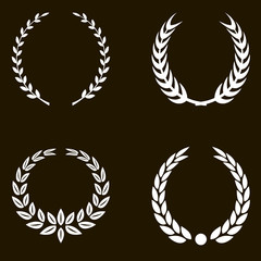 White Laurel Wreaths