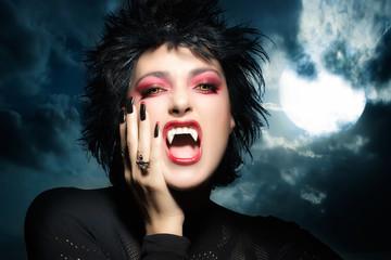 Beautiful Gothic Girl. Female werewolf