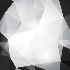 Black and white vector geometric background.