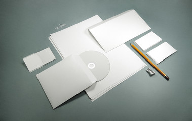 blank template for business cards, letterheads, envelopes and ba