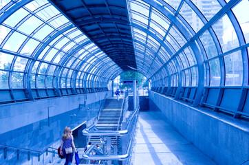 metro entrance station Strogino