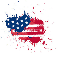Blot in USA flag colors