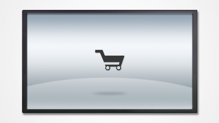 screen display with market kart icon