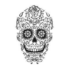 mexican sugar skull illustration