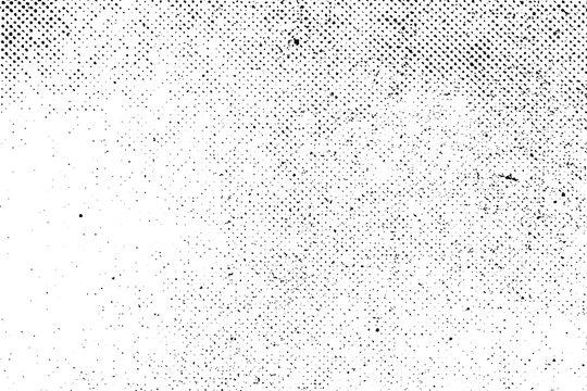 Grunge real organic vintage halftone vector ink print background