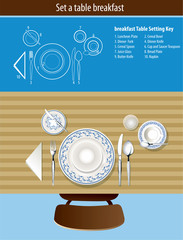 Vector of set a table breakfast