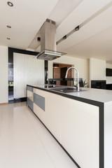 Interior of open kitchen