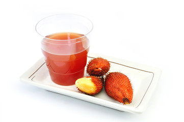 Red Salak and Juice