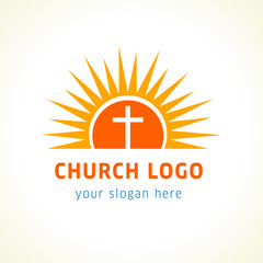Cross on the sun church logo.