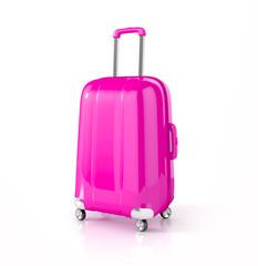 suitcase isolated on white. 3d illustration