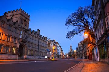 City of Oxford early in the morning.