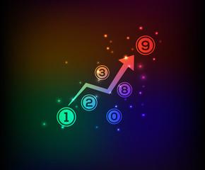 Analysis symbol,rainbow vector