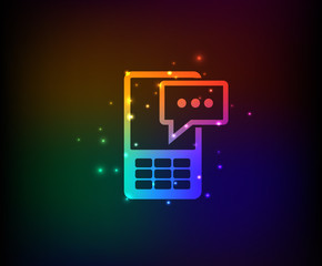 Message symbol,rainbow vector