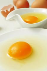 cracked chicken eggs