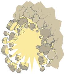 Exploding Wall Vector Clip Art