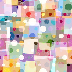 polka dots pattern background, vector illustration