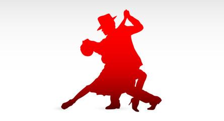 ballerini di tango, colori, fantasia, danza, ballerini, tango