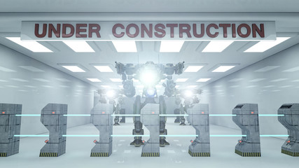 SCIFI Under construction and robot