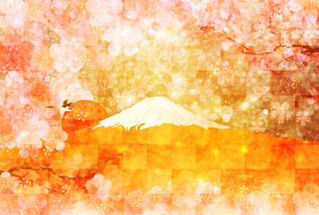富士山 梅 背景