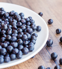 blueberries on a white plate