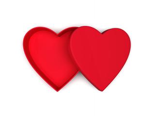 Heart shaped gift box