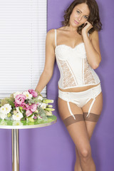 Attractive Young Pin Up Model Wearing Lingerie