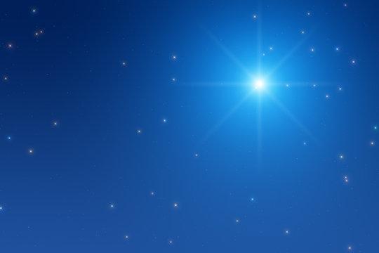 North star on a midnight sky.