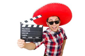 Funnu man with sombrero