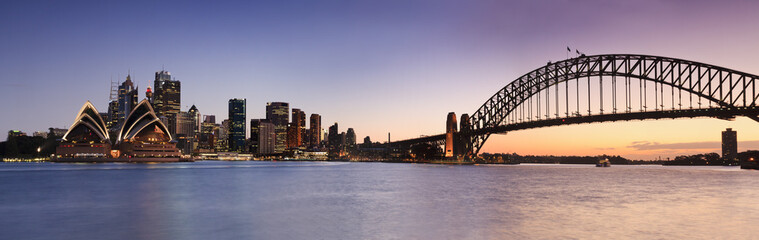 Photo sur cadre textile Australie Sydney CBD from Kirribilli Set Panor