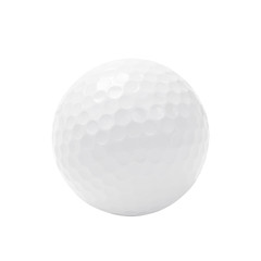 Golf ball isolated on white with clipping path.