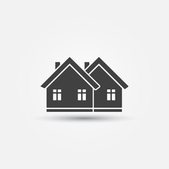 Real estate icon - vector house symbol