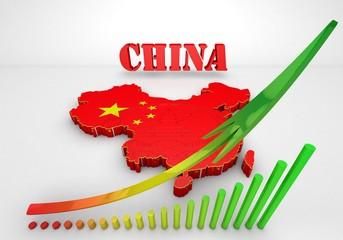 illustratuin map of China
