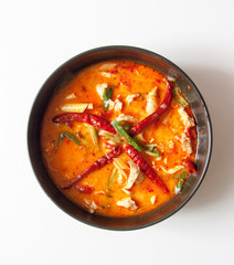 chicken tomyum the favourite spicy food in thailand